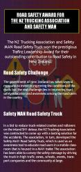 Road Safety Award for the NZ Trucking Association and Safety MAN PowerPoint PPT Presentation