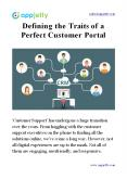 Defining the Traits of a Perfect Customer Portal PowerPoint PPT Presentation