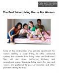 The Best Sober Living House For Women PowerPoint PPT Presentation
