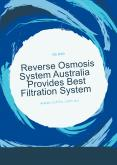 Reverse osmosis system Australia Provides Best Filtration System PowerPoint PPT Presentation