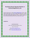 Revolution Electric Cigarette Machine at Hardworkingproducts.com PowerPoint PPT Presentation