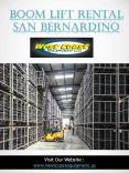 Boom Lift Rental San Bernardino|westcoastequipment.us|1-9512562040 PowerPoint PPT Presentation