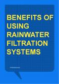 Benefits of Using Rainwater Filtration Systems PowerPoint PPT Presentation