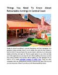 Things You Need To Know About Retractable Awnings In Central Coast PowerPoint PPT Presentation