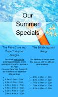 Our Summer Specials For Above Ground Pool PowerPoint PPT Presentation