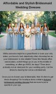 Find The Perfect Bridesmaid Wedding Dresses Sydney PowerPoint PPT Presentation