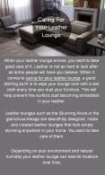 Know The Take Caring of Your Leather Lounge PowerPoint PPT Presentation