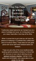 Choose The Right Traditional Suit For Your Bedroom Furniture PowerPoint PPT Presentation