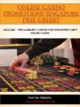 Online Casino Promotions Singapore Free Credit PowerPoint PPT Presentation