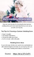 Best Summer Wedding Dress Ideas PowerPoint PPT Presentation