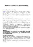 beginner's guide for java programming PowerPoint PPT Presentation