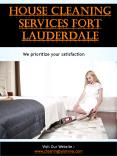 House Cleaning Services Fort Lauderdale PowerPoint PPT Presentation