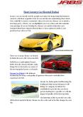 Best Luxury Car Rental Dubai (1) PowerPoint PPT Presentation