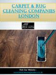 Carpet & Rug Cleaning Companies London PowerPoint PPT Presentation