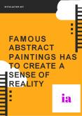 Famous abstract paintings has to create a sense of reality PowerPoint PPT Presentation