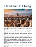 Plan A Trip To Chicago PowerPoint PPT Presentation