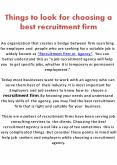 Things to look for choosing a best recruitment firm (1) PowerPoint PPT Presentation