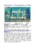 Must Visited 11 Tourist Attractions In Perth PowerPoint PPT Presentation