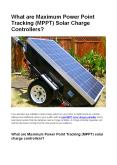 What are Maximum Power Point Tracking (MPPT) Solar Charge Controllers? PowerPoint PPT Presentation