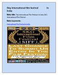 Top International Film Festival in India |SKG International Film Festival PowerPoint PPT Presentation