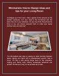 Minimalistic Interior Design ideas and tips for your Living Room PowerPoint PPT Presentation