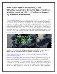 Actuators Market Overview, Cost Structure Analysis, Growth Opportunities and Forecast to 2022 PowerPoint PPT Presentation
