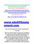 EDU 695 Week 1 DQ 1 Diversity Through 21st Century Teaching and Learning NEW PowerPoint PPT Presentation