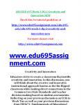 EDU 695 Week 3 DQ 2 Creativity and Innovation NEW PowerPoint PPT Presentation