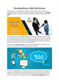 The selling Power of Bulk SMS Services PowerPoint PPT Presentation