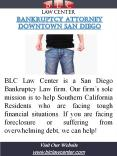 Bankruptcy Attorney Downtown San Diego |(619) 207-4579 | blclawcenter.com PowerPoint PPT Presentation