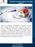 Property Management Services Malta | pdcmalta.com | Call - 356 9932 2300 PowerPoint PPT Presentation