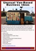 Unusual Van-Based Business Ideas PowerPoint PPT Presentation