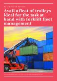 Avail a fleet of trolleys ideal for the task at hand with forklift fleet management PowerPoint PPT Presentation
