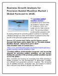 Business Growth Analysis for Precision Guided Munition Market   Global Forecast to 2025. PowerPoint PPT Presentation