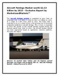 Aircraft Fairings Market worth $2.13 billion by 2023 - Exclusive Report by MarketsandMarkets™ PowerPoint PPT Presentation