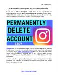 How to Delete Instagram Account Permanently PowerPoint PPT Presentation