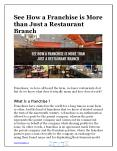 See How a Franchise is More  than Just a Restaurant  Branch PowerPoint PPT Presentation