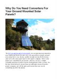 Why Need Converters For Your Ground Mounted Solar Panels? PowerPoint PPT Presentation