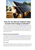 How Do You Set Up Outback Solar Inverter And Charge Controller? PowerPoint PPT Presentation