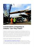 How to Construction Companies in Ontario Paints Your Building? PowerPoint PPT Presentation