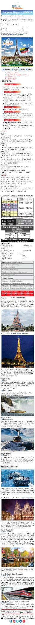 Paris Tour Package At LPO Holidays PowerPoint PPT Presentation