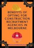 Benefits of Opting For Construction Recruitment Agencies in Melbourne PowerPoint PPT Presentation