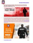 Steps to become security guard | New Age Training Academy Reservoir | Au PowerPoint PPT Presentation