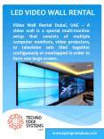 LED, Video Wall Rental Dubai,UAE | 3x3 Video Wall Rental UAE PowerPoint PPT Presentation