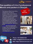 Choose professional movers and packers in Sharjah | A to Z movers UAE PowerPoint PPT Presentation