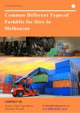 Common Different Types of Forklifts for Hire In Melbourne PowerPoint PPT Presentation