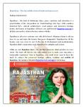 Embark your Rajasthan tourism & explore the antiquity! PowerPoint PPT Presentation