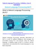 Natural Language Processing (NLP) PowerPoint PPT Presentation