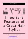 Important Features of a Great Hair Stylist PowerPoint PPT Presentation