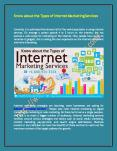 Know about the Types of Internet Marketing Services PowerPoint PPT Presentation